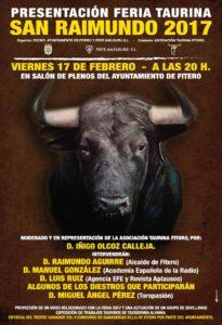 cartel presentación taurina San Raimundo 2017