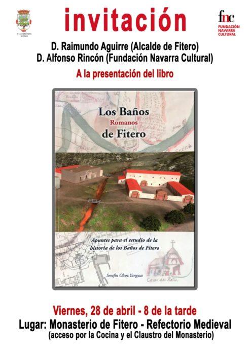 Presentación del libro Los Baños Romanos de Fitero 28 abril