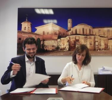 firma Consejera Cultura y Alcalde de Fitero web