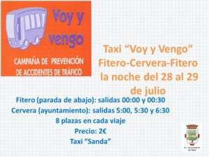 Taxi voy y vengo Cervera 2017