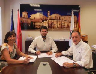 firrma convenio Balneario Turismo Fitero web
